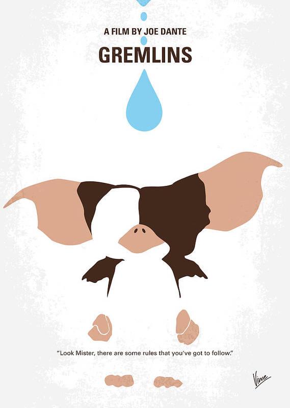 Gremlins movie poster print