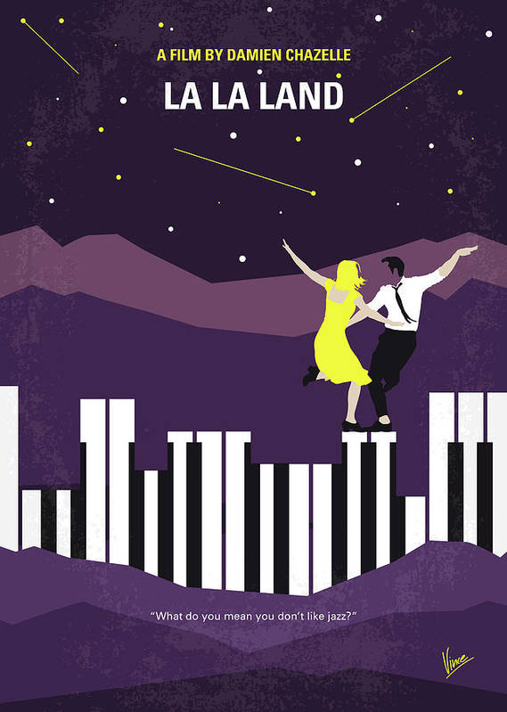 La Art Print featuring the digital art No756 My La La Land minimal movie poster by Chungkong Art