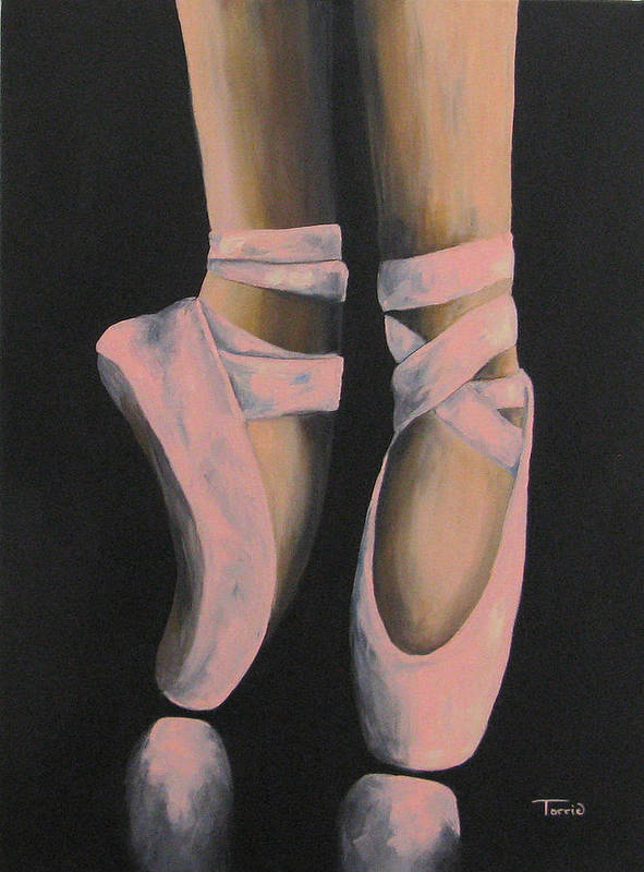 Ballerina Art Print featuring the painting On Point III by Torrie Smiley