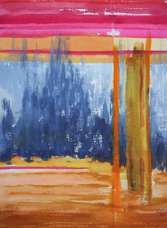 Landscape Art Print featuring the painting Opening by Suzanne Udell Levinger