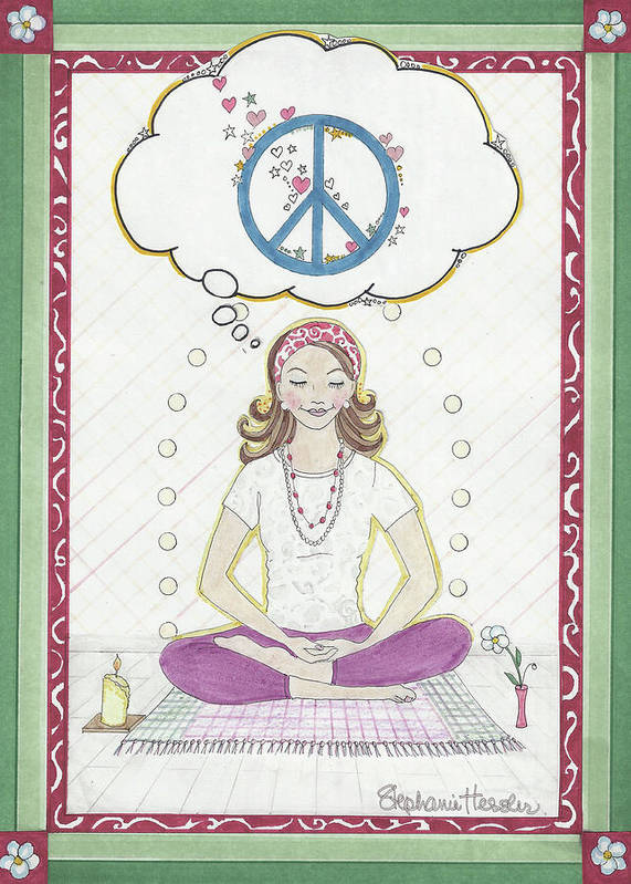 Peace Art Print featuring the mixed media Peace Meditation by Stephanie Hessler