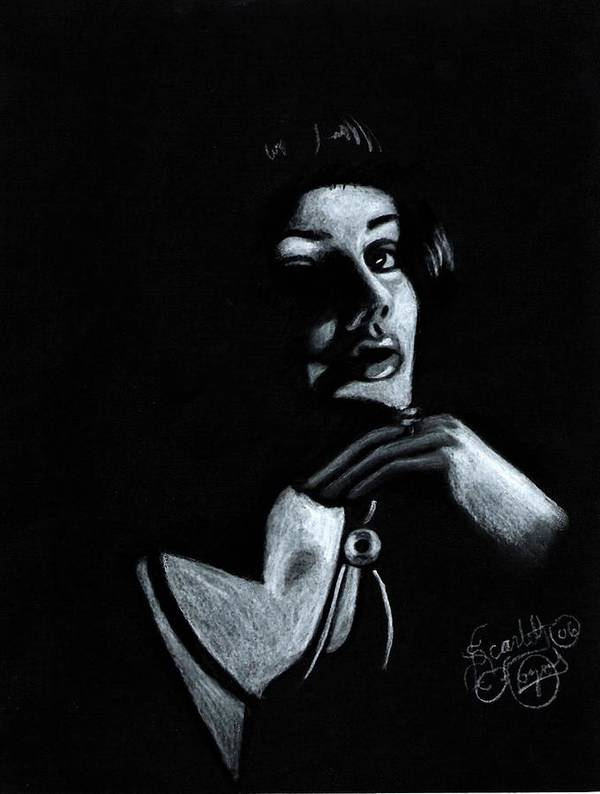 Portrait Art Print featuring the drawing Persuasion by Scarlett Royal