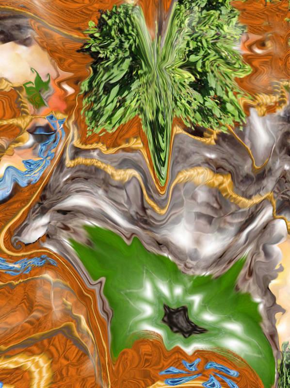 Plankton Art Print featuring the digital art Plankton Soup by Stephanie H Johnson