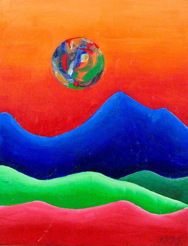 Landscape Art Print featuring the painting Rebirth by Rollin Kocsis