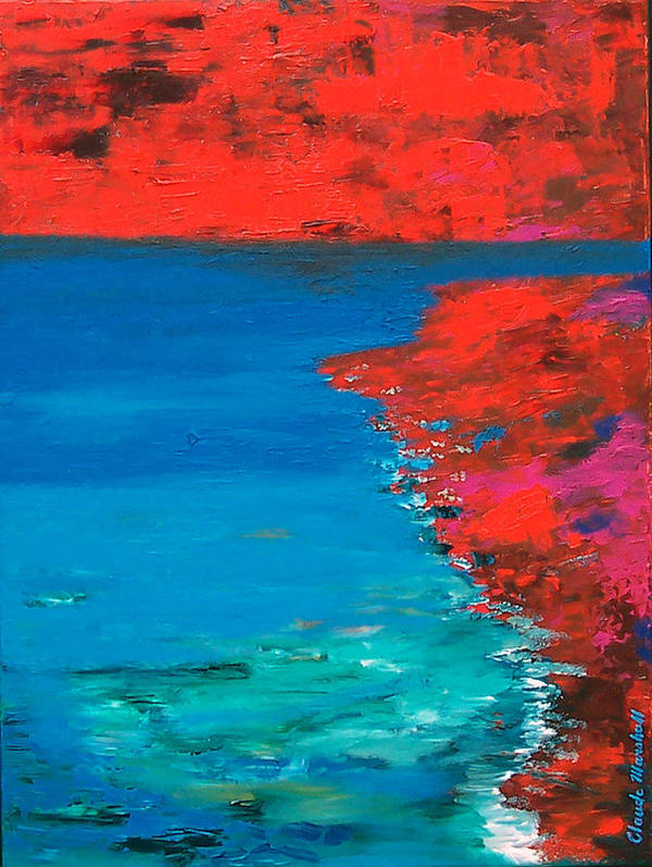 Art Art Print featuring the painting Red Island by Claude Marshall