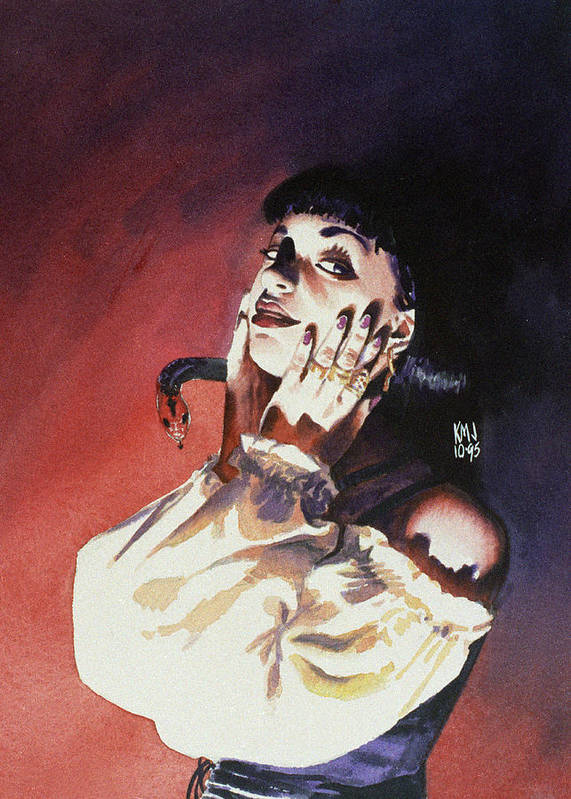 Women Art Print featuring the painting Set by Ken Meyer jr