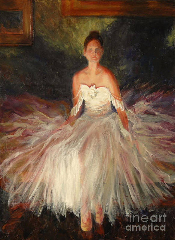 Figure Art Print featuring the painting Shadow of Grace by Colleen Murphy