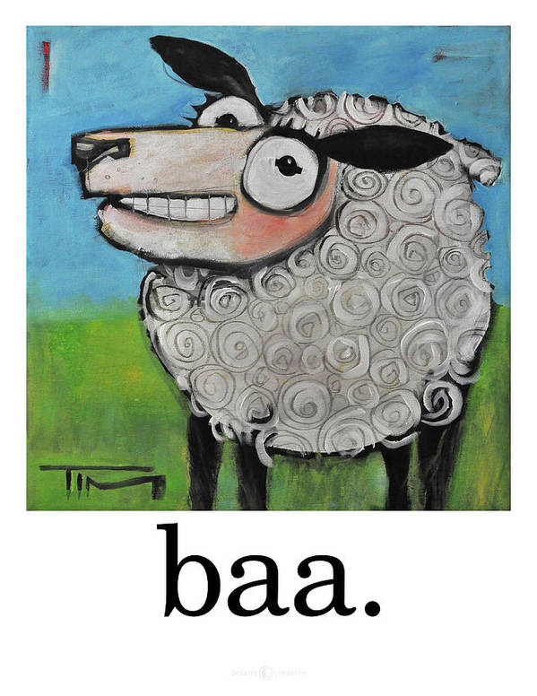Sheep Art Print featuring the painting Sheep Poster by Tim Nyberg