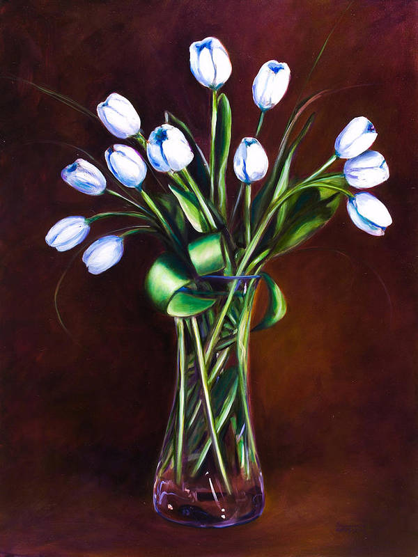 Shannon Grissom Art Print featuring the painting Simply Tulips by Shannon Grissom