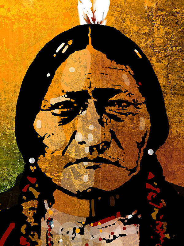 Native American Art Print featuring the painting Sitting Bull by Paul Sachtleben