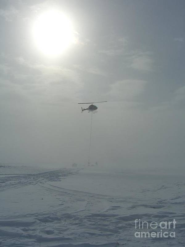 Helicopter Art Print featuring the photograph Snow Heli -25deg by Jim Thomson