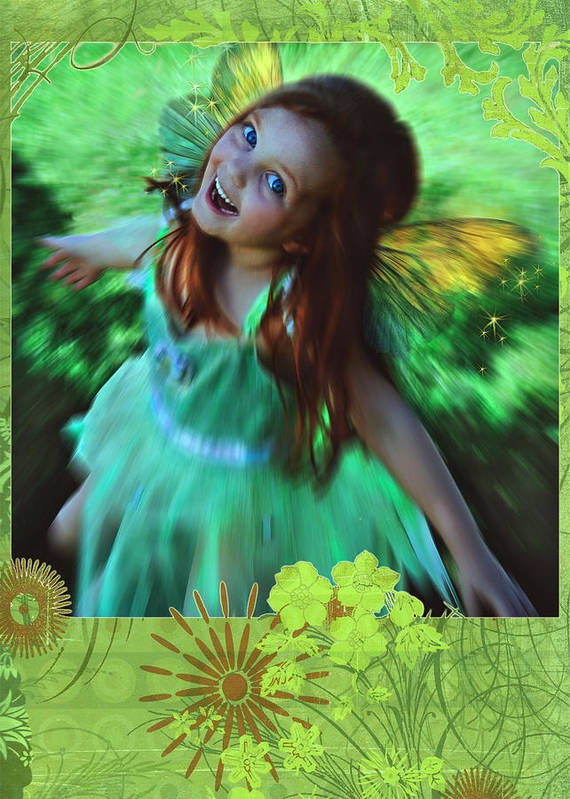 Girl Art Print featuring the photograph Soar by Jean Hildebrant