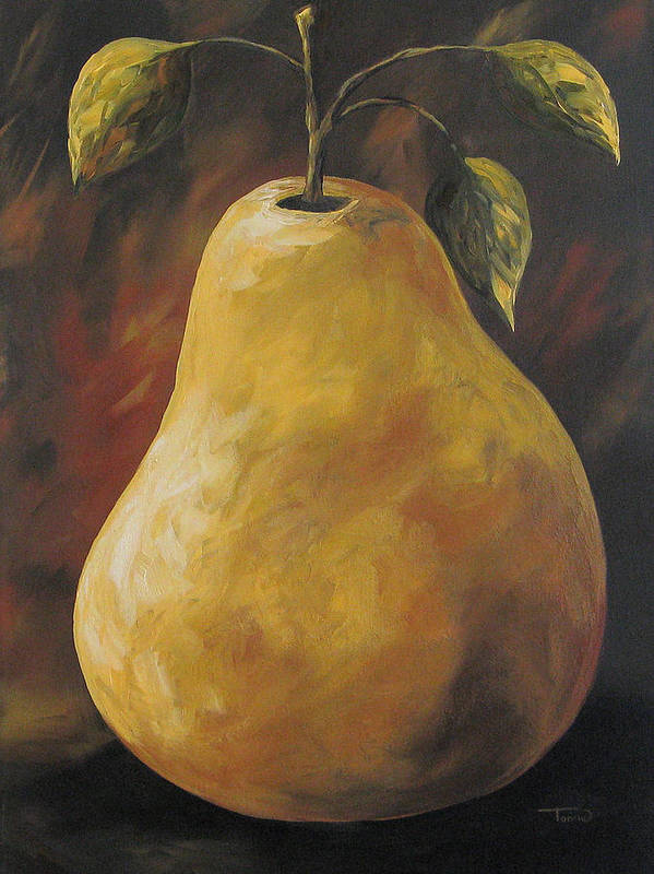 Pear Art Print featuring the painting Southwest Pear by Torrie Smiley