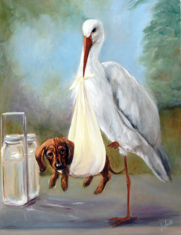 Nature Art Print featuring the painting Special Delivery by Stella Violano