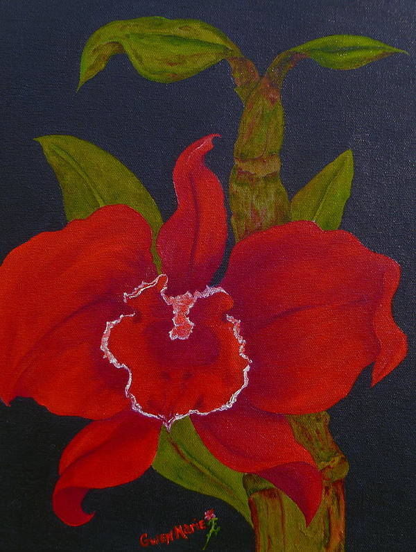Orchids Art Print featuring the painting Spellbound by Gwen Rose