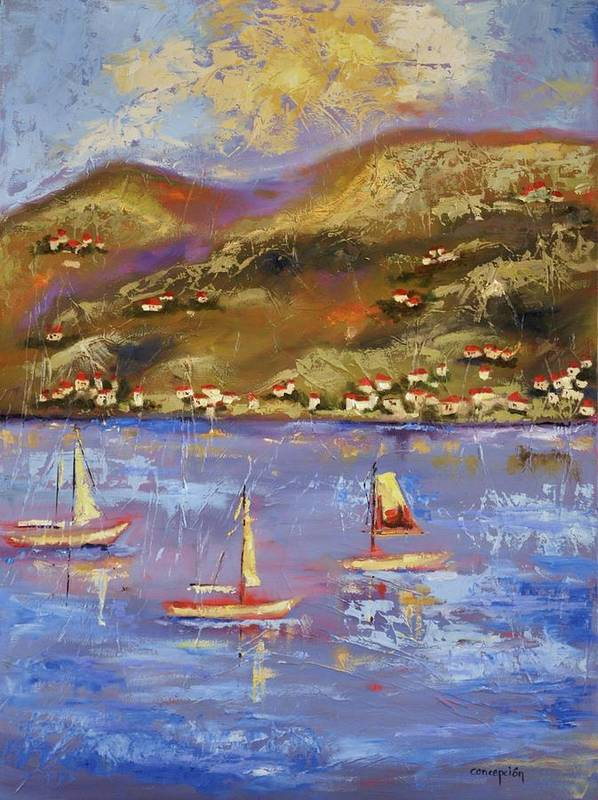 St. John Art Print featuring the painting St. John USVI by Ginger Concepcion