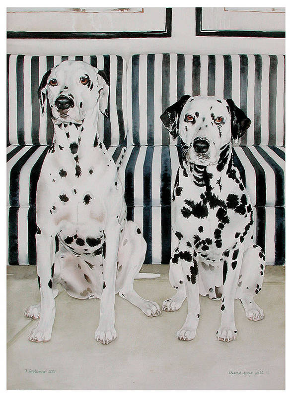 Portrait Art Print featuring the painting Stanley and Stelle by Eileen Hale