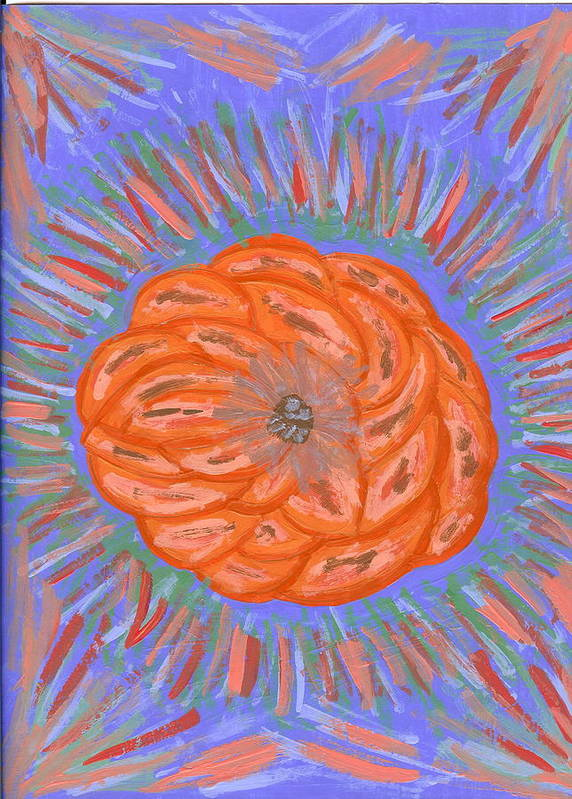 Flower Art Print featuring the painting Starburst by Laura Lillo