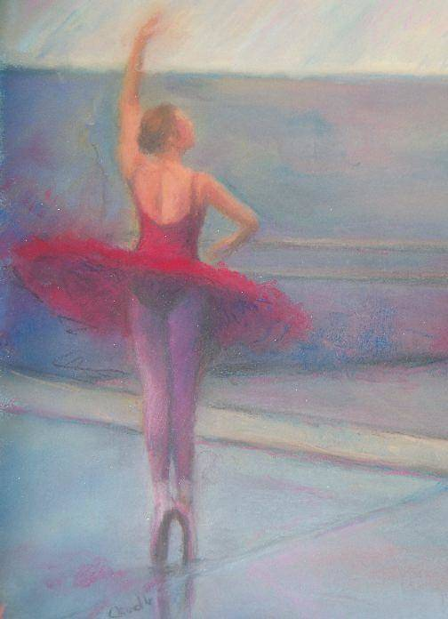 Pastel Art Print featuring the painting The Ballerina by Diane Caudle