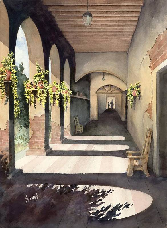 Plants Art Print featuring the painting The Corridor 2 by Sam Sidders
