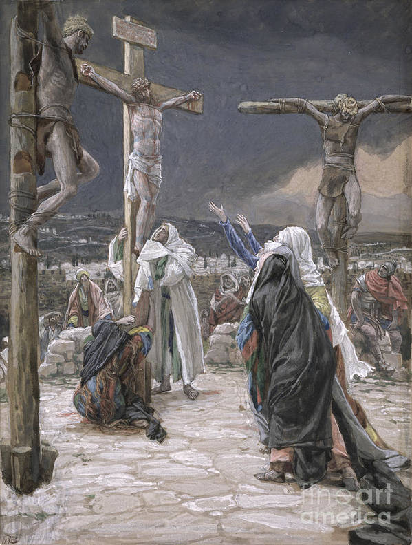 The Art Print featuring the painting The Death Of Jesus by Tissot