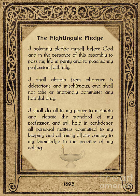 The Florence Nightingale Pledge 1893 Art Print by Olga Hamilton
