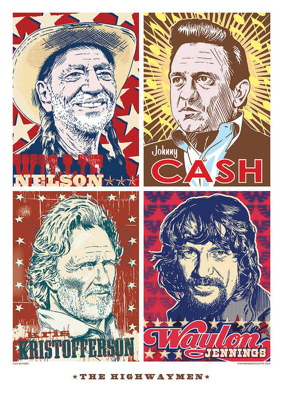 Outlaw Art Print featuring the digital art The Highwaymen by Jim Zahniser