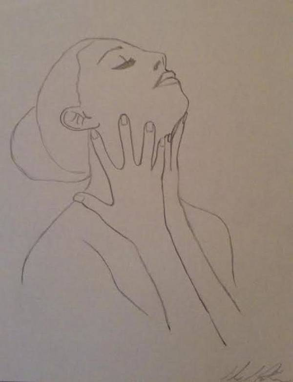 Humans Art Print featuring the drawing The Incomplete Beauty by Sheila Renee Parker