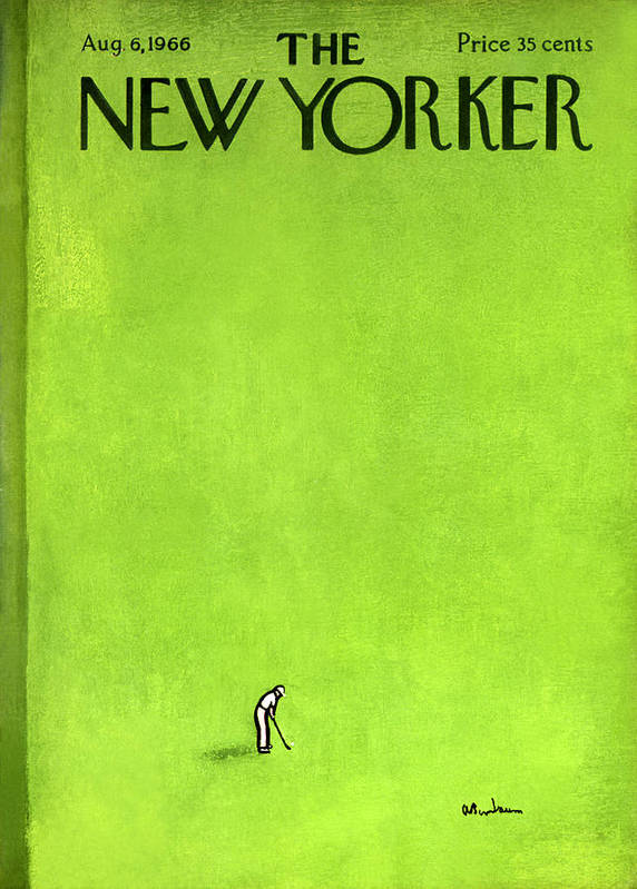 Leisure Art Print featuring the painting The New Yorker Cover - August 6th, 1966 by Abe Birnbaum