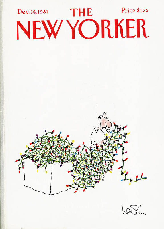 Holiday Art Print featuring the painting The New Yorker Cover - December 14th, 1981 by Arnie Levin