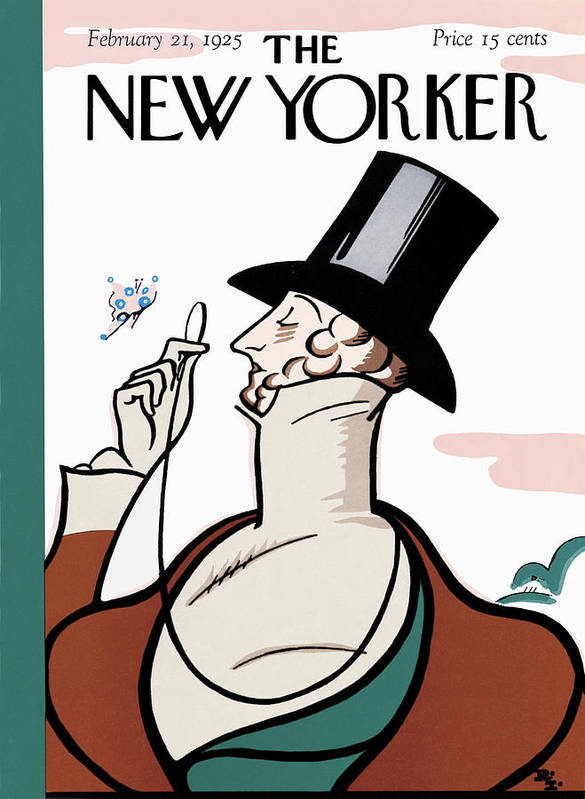 Logo Art Print featuring the painting New Yorker February 21st, 1925 by Rea Irvin