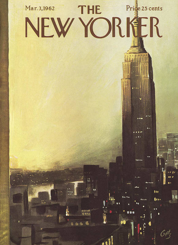 Arthur Art Print featuring the painting The New Yorker Cover - March 3rd, 1962 by Arthur Getz