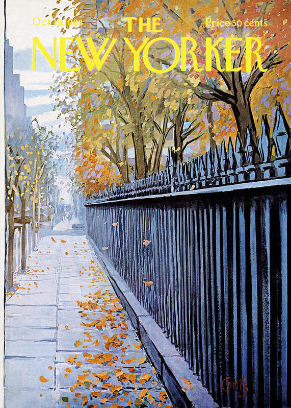 Season Art Print featuring the painting New Yorker October 19, 1968 by Arthur Getz