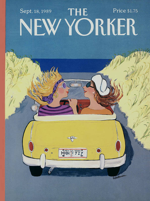 Autos Art Print featuring the photograph The New Yorker Cover - September 18th, 1989 by Barbara Westman