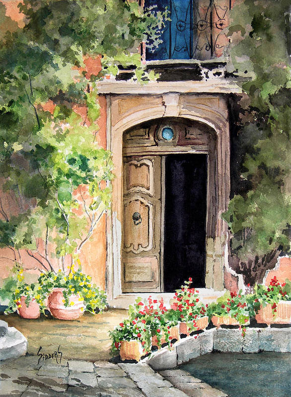 Door Art Print featuring the painting The Open Door by Sam Sidders