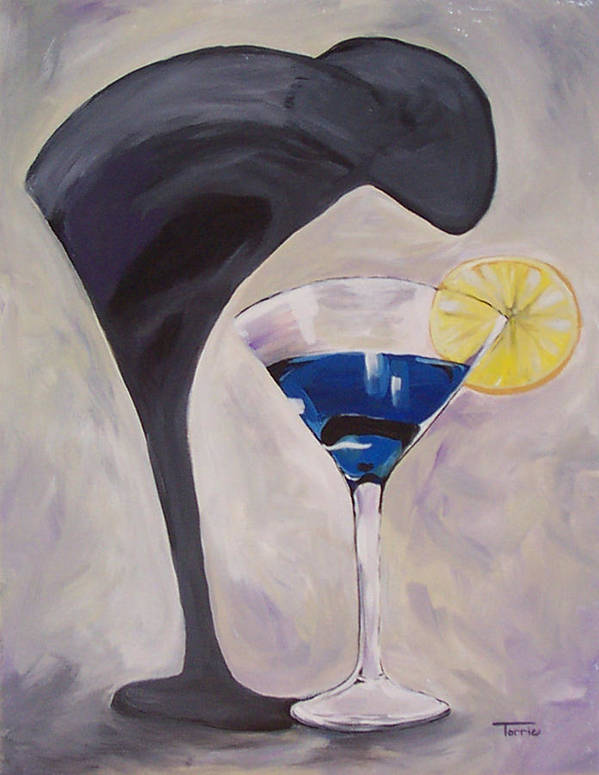 Martini Art Print featuring the painting The Shadow - Two by Torrie Smiley