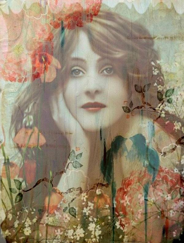 Women Art Print featuring the painting The She by Laura Botsford