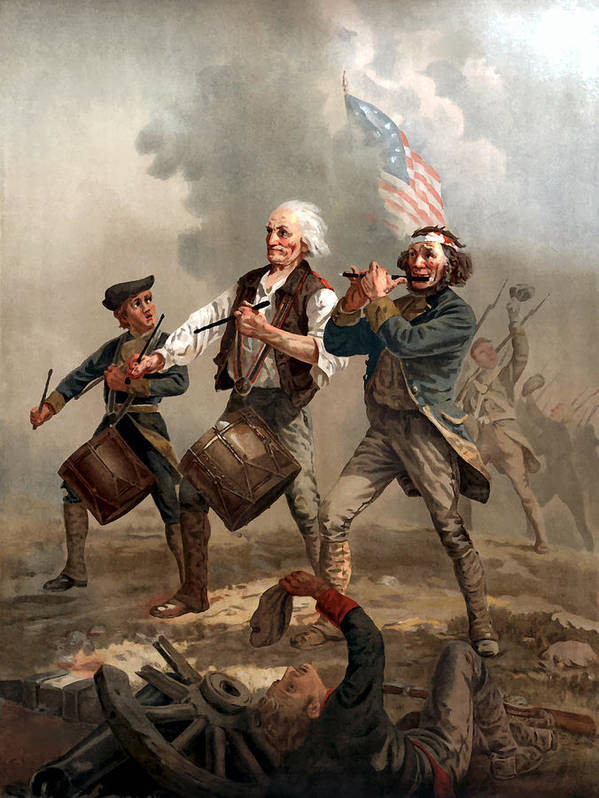 Yankee Doodle Art Print featuring the painting The Spirit of '76 by War Is Hell Store