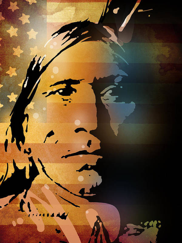 Native American Art Print featuring the painting The Vanishing American by Paul Sachtleben