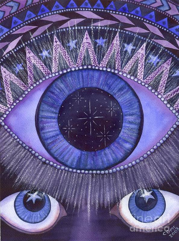 Thrid Eye Art Print featuring the painting Third Eye Chakra by Catherine G McElroy