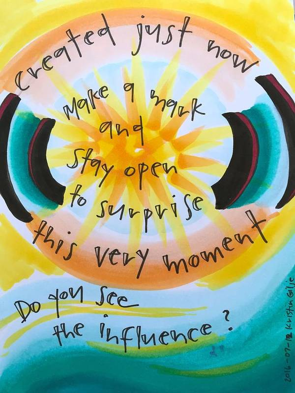 Creativity Art Print featuring the painting This Very Moment by Vonda Drees