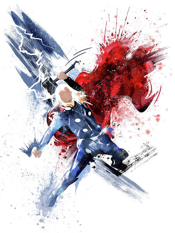 THOR ABSTRACT CANVAS PRINT PICTURE WALL ART VARIETY OF SIZES AVAILABLE