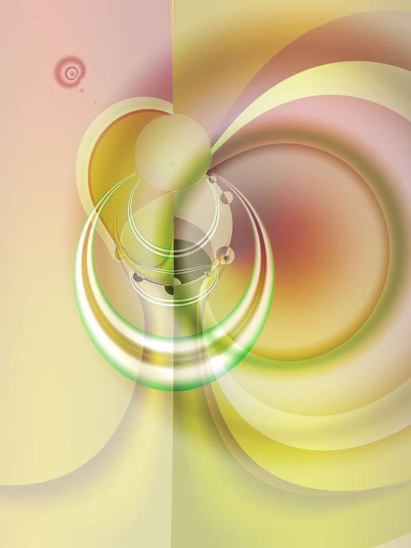 Fractal Art Print featuring the digital art Time Warp Revisited by Frederic Durville