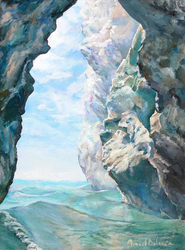 Landscape Paintings Art Print featuring the painting Trouee 2 by Muriel Dolemieux