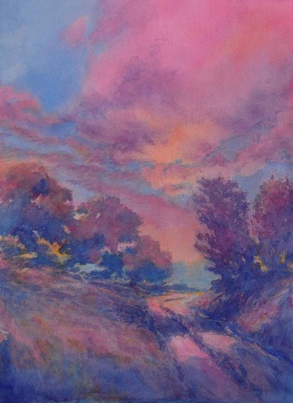 Landscape Art Print featuring the painting Twilight Time, No. 2 by Virgil Carter