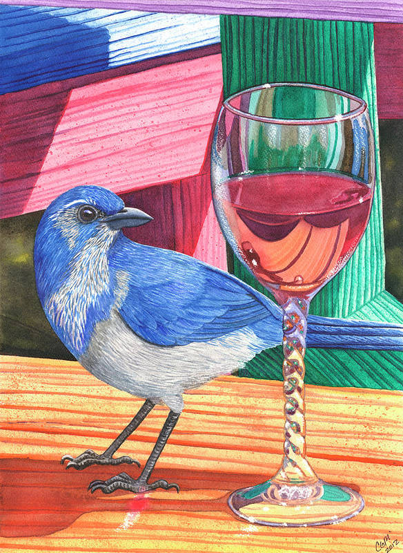 Wine Art Print featuring the painting Unattended by Catherine G McElroy