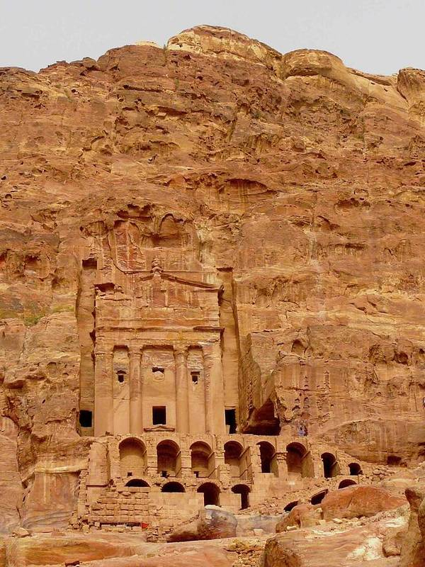 Vertical Art Print featuring the photograph Urn Tomb, Petra by Cute Kitten Images