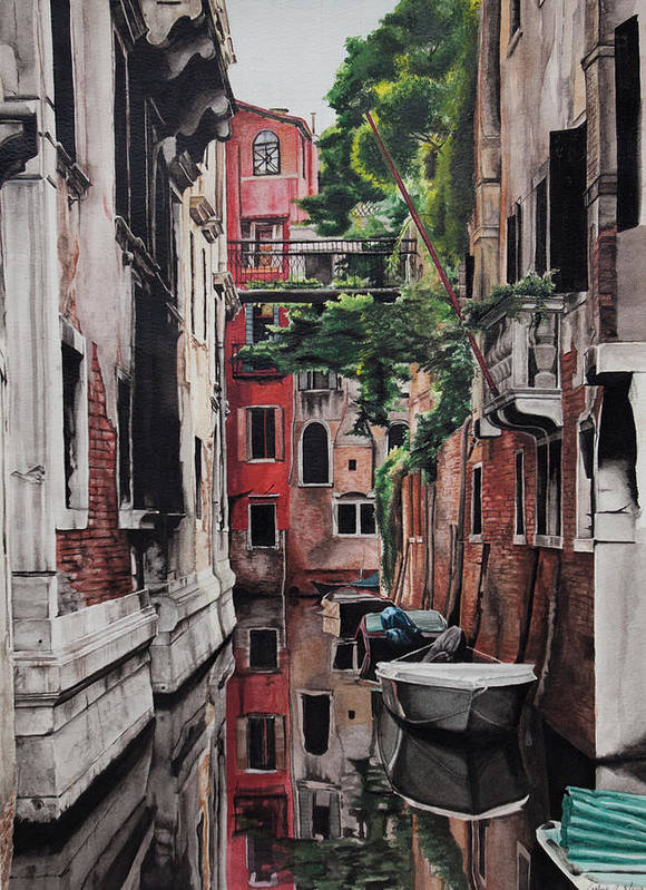 Italy Art Print featuring the painting Venice by Lamark Crosby