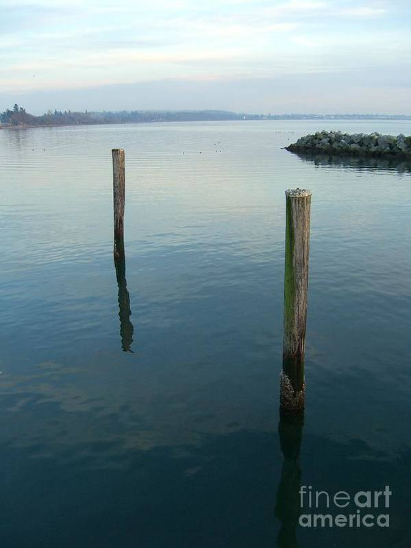 Water Art Print featuring the photograph White Rock Water by Jim Thomson