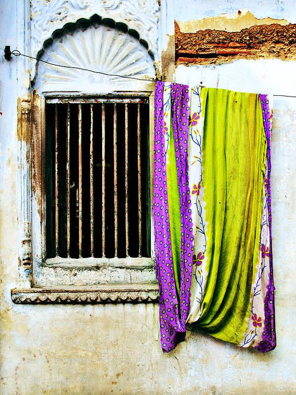 Window Art Print featuring the photograph Window and Sari by Derek Selander